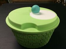 Tupperware Spin N Save Salad Spinner Green 3777B-2 3779B-2 (Excellent)