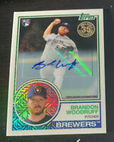 Brandon Woodruff 2018 Topps Silver Pack Rookie Refractor AUTO /199 Brewers RC