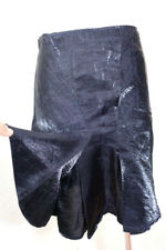 Christian DIOR Boutique Black Glossy Stylish Dressy Midi Skirt Small 2 3 4 36