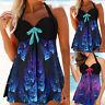 Women Floral Tankini Swimdress Swimsuit Padded Beachwear Swim Plus Size