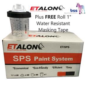 "Etalon SPS Paint System 50 Cup Kit - 650ml, 125micron. + One Roll 1"" Tape FREE."