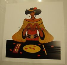 Dining with Diva . Limited Edition Lithograph by Albert Fennell . #ab832