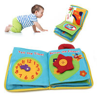 Baby Kid Intelligence development Cloth Bed Cognize Book Flower Educational Toy