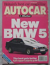AUTOCAR & Motor magazine 3/11/1993 featuring Dodge Viper, AC Ace, Seat
