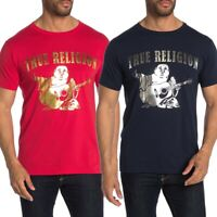 True Religion Men's Metallic Buddha Logo Tee T-Shirt