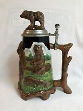2004 Nature's Pride Series Grizzly Bear Stein Anheuser-Busch Cs599 With Coa