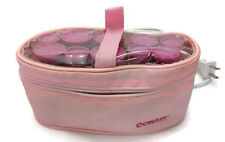 Vintage Pink Conair 10 Hot Rollers Curlers In Travel Case Pageant V08480 Tested