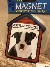 New Boston Terrier Dog Gifts Set Magnet Sticker Ring