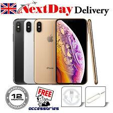 Apple iPhone XS 64 ГБ, 256 ГБ, разблокированный, без SIM-карты Смартфон серебристо-серый нетронутой Великобритании