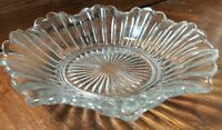 8 Inches Diameter GLASS FRILLED EDGE? BOWL JW65