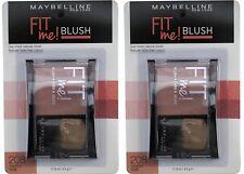 2 x MAYBELLINE FIT ME BLUSH 208 MEDIUM NUDE 100% Brand New