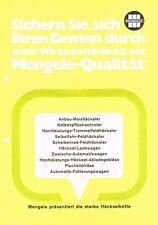 Mengele Häckselkette, orig. Prospekt 1976