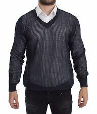 NWT $660 DOLCE & GABBANA Blue Runway Netz Pullover Netted Sweater s. 50 / L