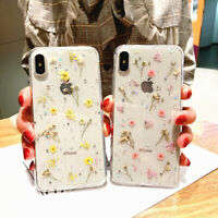 Handmade Real Dried Pressed Flowers Phone Case For iPhone X XS MAX XR 8 7 6