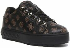 Guess Fairest Lace up Active Trainer In Brown Size UK 3 - 8