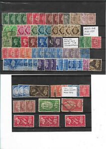 Great Britain - 80 f-vf used King Geaorge VI stamps