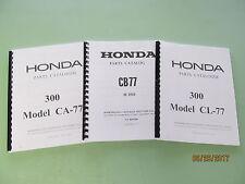 Honda 305 CA77 CB77 CL77 Dream Super Hawk Scrambler Parts Catalog Manual Book