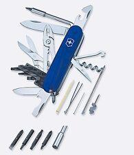 Victorinox CYBERTOOL 34 Sapphire / Swiss Army Knife W/ Black Cordura Pouch - NEW