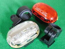LED BICYCLE FRONT & REAR LIGHTS SET PUSH CYCLE LIGHT CLIP