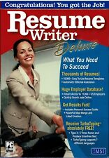 Lot of 10 Resume Writer Deluxe Pc New Sealed Retail Box