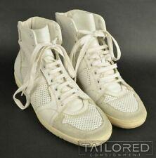 DIOR HOMME White Leather Hightop Fashinon Sneaker Shoes - EU 41.5 / US 8.5