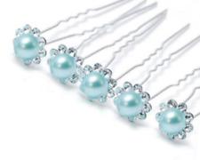 Accessoires cheveux mariage 1 lot de 10 épingles à chignon perle bleue à strass