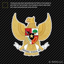 Indonesian National Emblem Sticker Decal Self Adhesive Vinyl Indonesia flag IDN