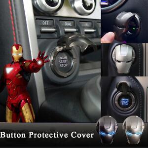 3D Iron Man Auto Motor Zündung Start Stop Druckknopf Schalter Knopf Abdeckung