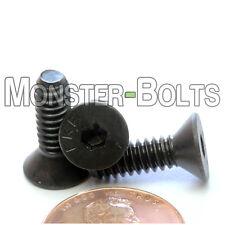 "#10-24 x 5/8"" - Qty 10 - FLAT HEAD Socket Cap Screws - Alloy Steel Black Oxide"