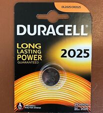 NEUF DURACELL CR2025 3 V Lithium Coin Cell batterie 2025 DL/BR2025 Plus Long Expiration