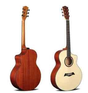 "Deviser LS-120 Matte Soft Cutaway Acoustic Guitar, 40"" Steel Strings"