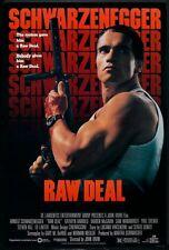 "RAW DEAL - 27""x40"" Original Movie Poster One Sheet ROLLED Arnold Schwarzenegger"