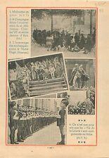Délivrance de Charles VII par Jeanne d'Arc /Ecole Paris Victor 1935 ILLUSTRATION
