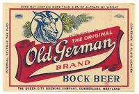 Rare Unused 1940s Harold Johnson Rose Bud Indian Beer Label Tavern Trove