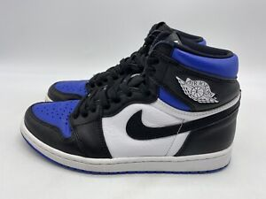 Nike Air Jordan Retro 1 High OG Royal Toe Size 8 Men's 555088-041 Blue/Black