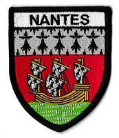 Patche Nantes écusson brodé blason patch thermocollant Atlantique Nantais