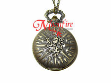 GAME OF THRONES HOUSE LANNISTER LION SIGIL POCKET WATCH NECKLACE CERSEI TYWIN
