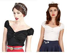 Hip Length Cotton Blend Cap Sleeve Tops & Shirts for Women