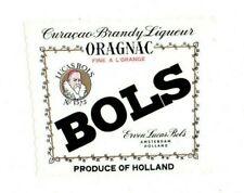 Netherlands - Vintage Label - Erven Lucas Bols, Amsterdam - Oragnac