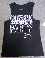 NWT ladies TUPAC CALIFORNIA KNOWS HOW TO PARTY tank top MUSCLE T-SHIRT - SMALL