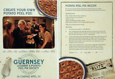 THE GUERNSEY LITERARY AND POTATO PEEL PIE SOCIETY FILM POSTCARDS X 2 LILY JAMES