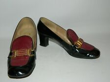 Vintage Peter Lord 'Elegante' Patent Leather Court Shoes Size 5.5