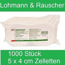 1000Stk. Lohmann & Rauscher Zellstofftupfer (Zelletten)5 x 4 cm/ Tupfer#5312