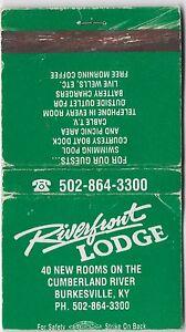 VINTAGE  MATCHBOOK RIVERFRONT LODGE BURKESVILLE,KY