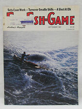 Fur Fish Game Magazine September 1987 Cover Art Heading Back by Don Curley