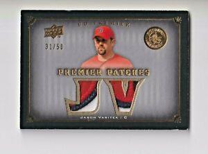2008 Upper Deck Premier Patches Gold #JV Jason Varitek/50