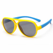 Óculos De Sol Aviador Polaroid Infantil TR90 Esporte De Titânio Bebê Eyewear 359a18e490