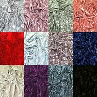 "Premium Spun Ice Crush Effect Velvet 2 Way Spandex 60"" Craft, Dress & Decoration"