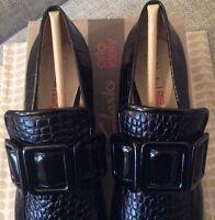 Orla Kiely Clarks, Alice Black Shoes, SIze UK 3, EUR 35.5, US 5.5, Retro