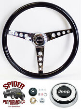 "1967-1975 Jeep CJ5 CJ6 steering wheel 15"" GLOSSY GRIP"